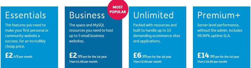 123-reg pricing- Best Web Hosting Providers In Europe