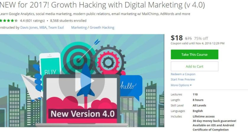 NEW for 2017 Growth Hacking with Digital Marketing v 4.0