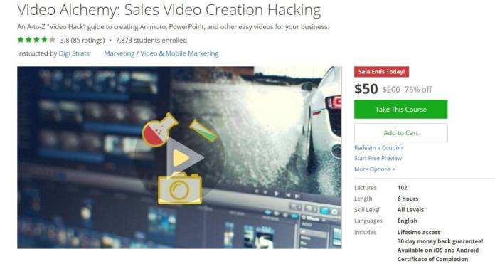 Udemy courses - Video Alchemy Sales Video Creation Hacking