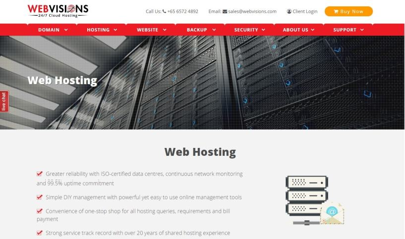 webvisions- BestWeb Hosting Service Providers In Singapore