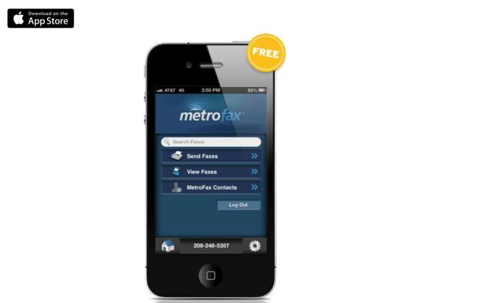 Metrofax mobile app for android and ios