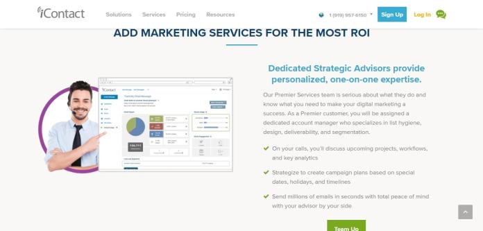 Marketing services of icontact