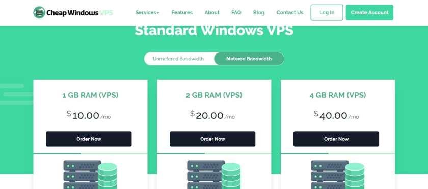 Cheap Windows VPS Configurable Options-Pricing