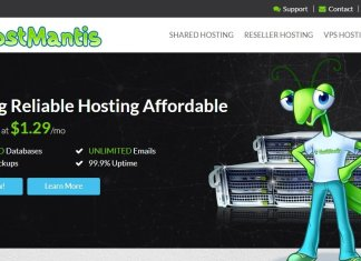 Hostmantis afforfable web hosting logo