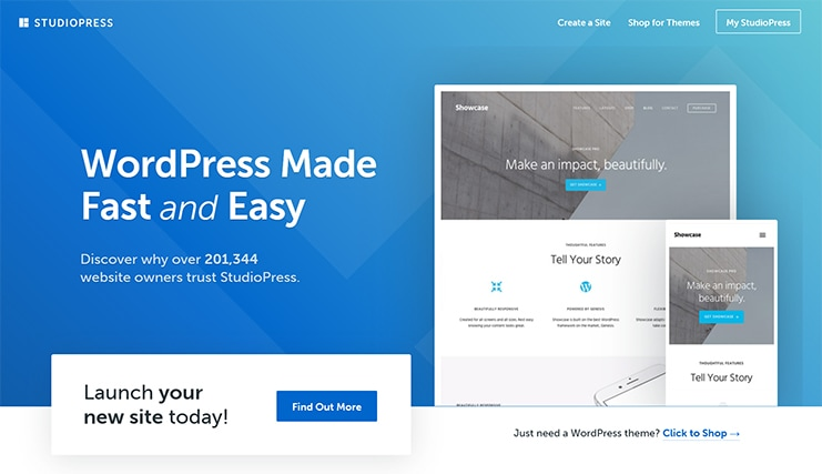 studiopress wordpress themes and features