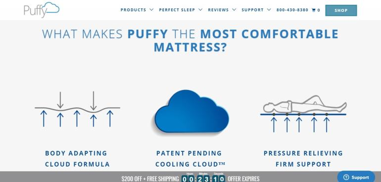Puffy Mattress Products - What makes Puffy Comfortable