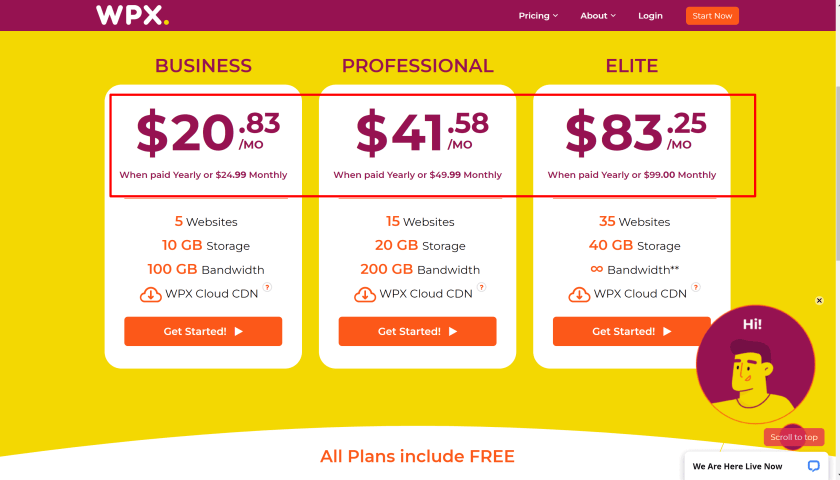 WPX yearly hosting plans- Coupon promo