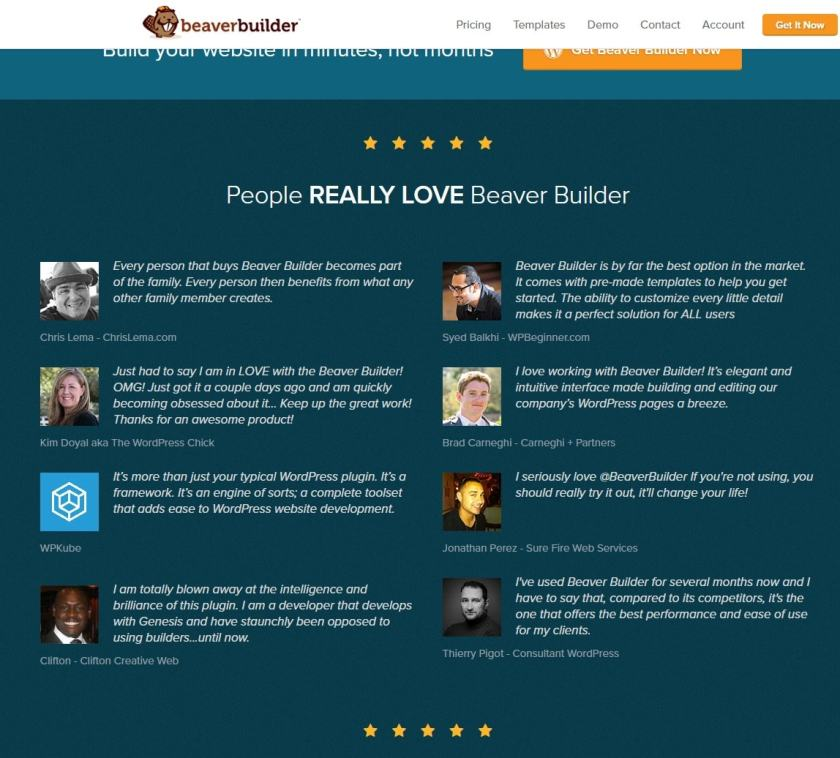 users say about Beaver Builder