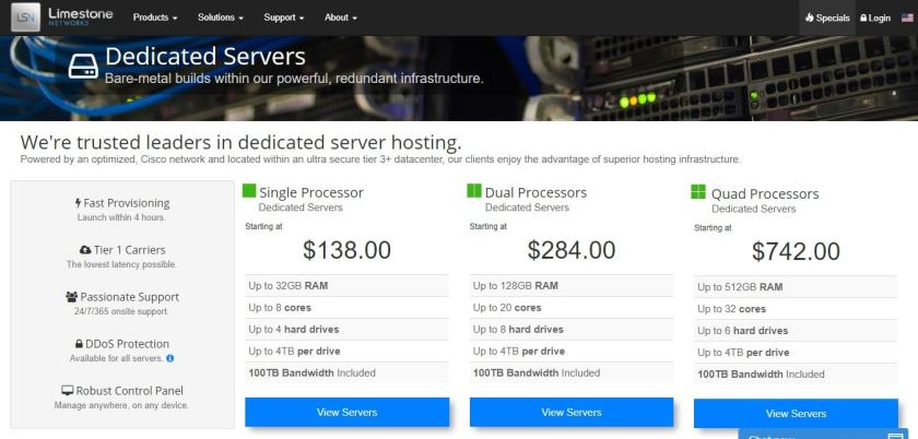 server and price plans
