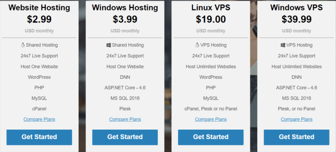 3Essentials Hosting Coupon Codes- Pricing