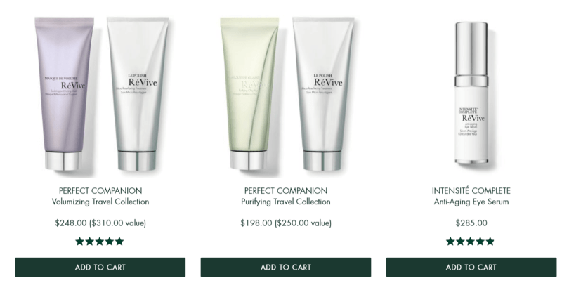 ReVive Skin Care Coupon Codes- Products