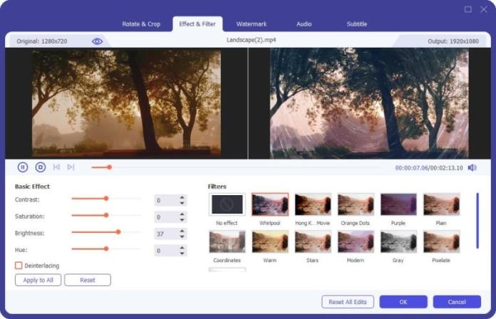 Aiseesoft video editing tools and features
