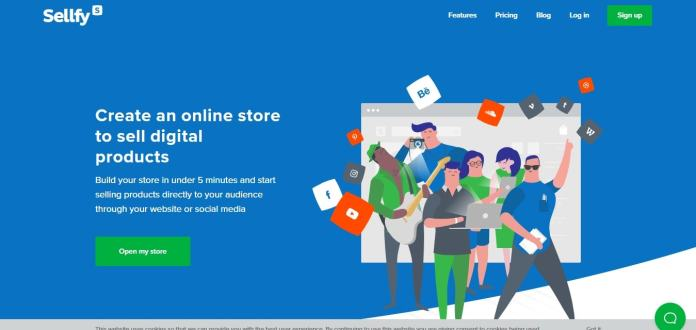 create an online store to sell digital products