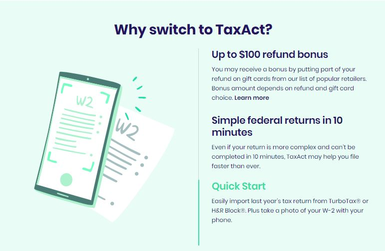 TaxAct Review With Discount -switch to TaxAct