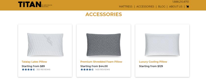 Titan mattress - Check titan accessories