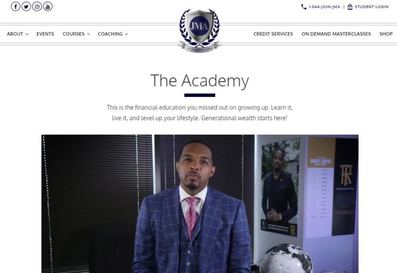 Jay Morrison Academy Coupon Codes- The Academy