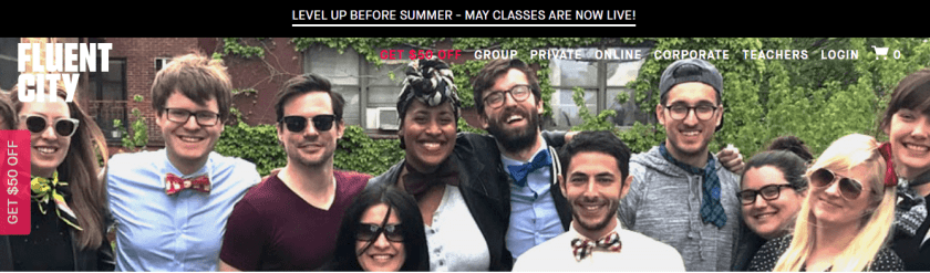 Level Up With Fluent City Group Classes- Fluent City Promo codes