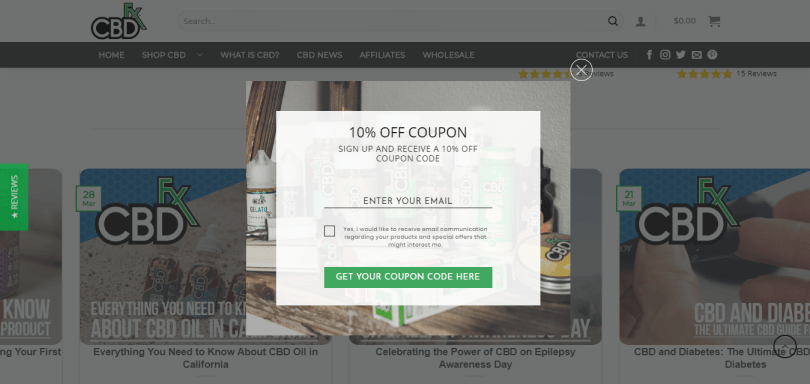 CBDfx coupons and offers