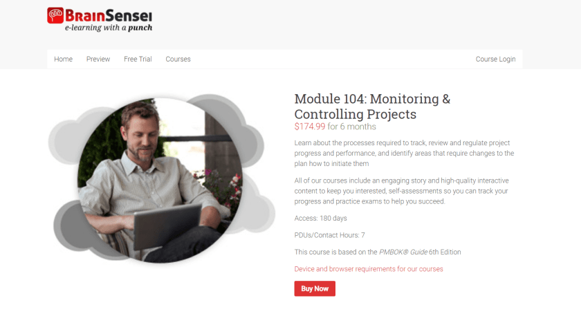 Brain Sensei Courses Review- Module 104 Monitoring Controlling Projects