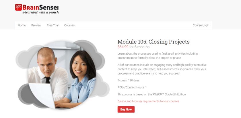 Brain Sensei Courses Review- Module 105 Closing Projects