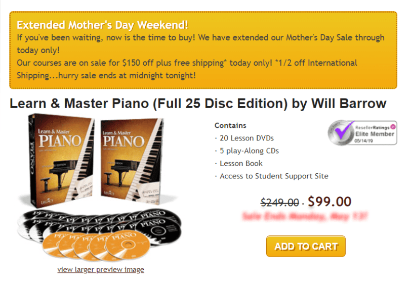 Learn & Master Courses Coupon Codes- Piano Classes Pricing