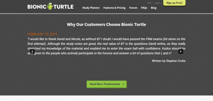 Bionic Turtle Course Review