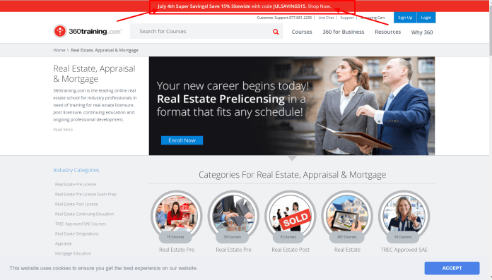 360Training real estate discount