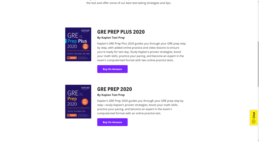 Main Quantity Books From GRE