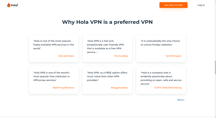 Hola VPN customer reviews
