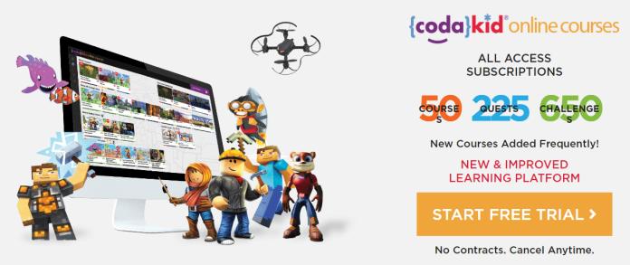 CodaKid online Courses - 50+ Courses available
