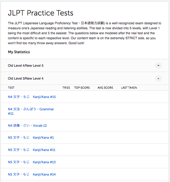 JapanesePod101 JLPT Practice Tests