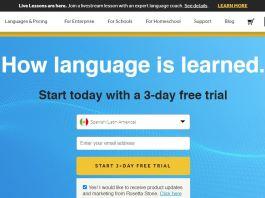 Rosetta Stone Review Homepage