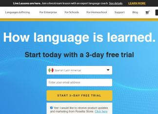 Rosetta Stone Review Homepage