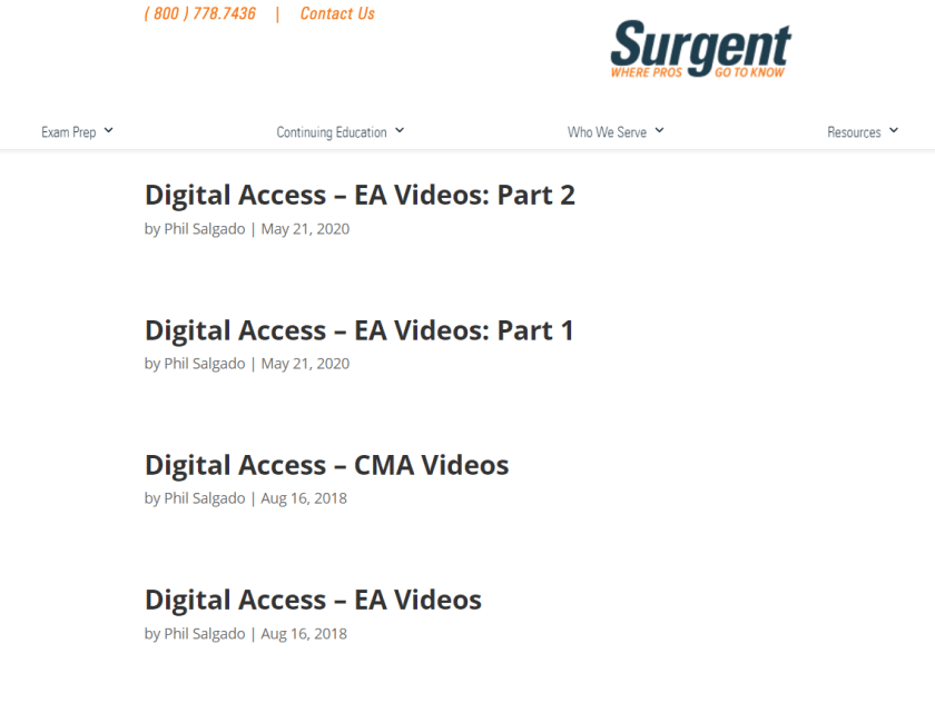 Surgent Discount codes- Video Lectures