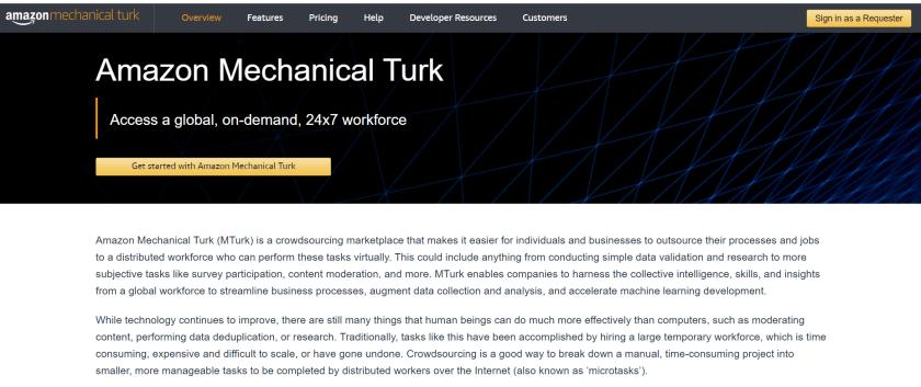 earn money on Working Jobs On Amazon's Mechanical Turk