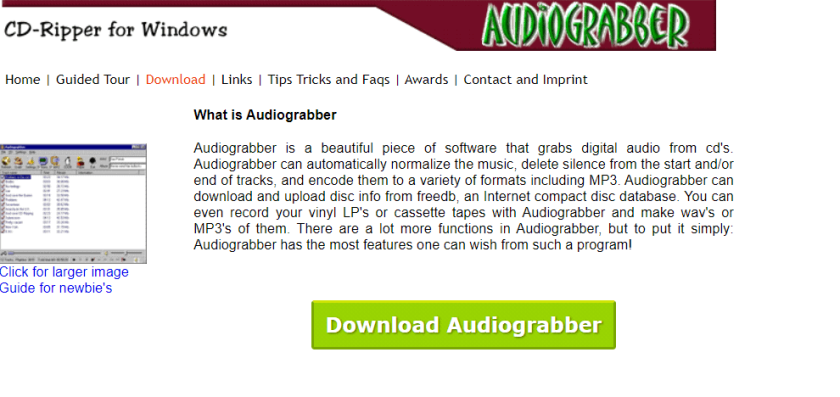 AudioGrabber- Best CD Ripping Software