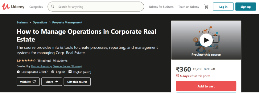 Manage Operations in Corporate Real Estate