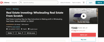 wholesaling real estate from scratch