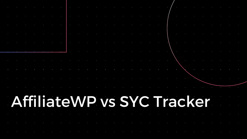 AffiliateWP vs SYC Tracker
