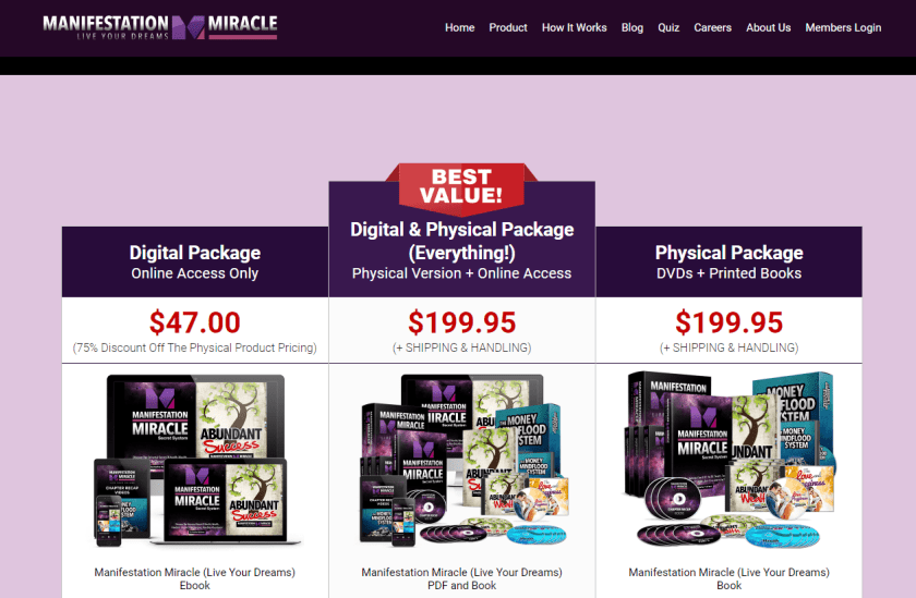digital package and physical package