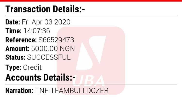 TEAM BULLDOZER INCOME PROGRAM (Proof Of Payment)