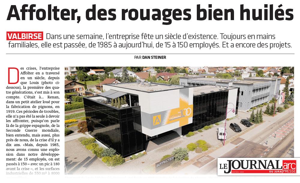 AFFOLTER, des rouages bien huilés - Journal du Jura