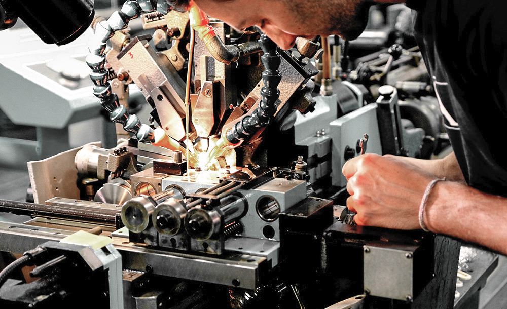 job turning came swiss watch affolter pinion gear