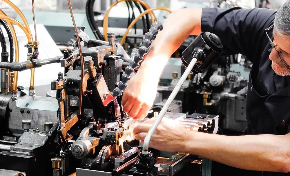 job turning setup swiss watch affolter geartrain