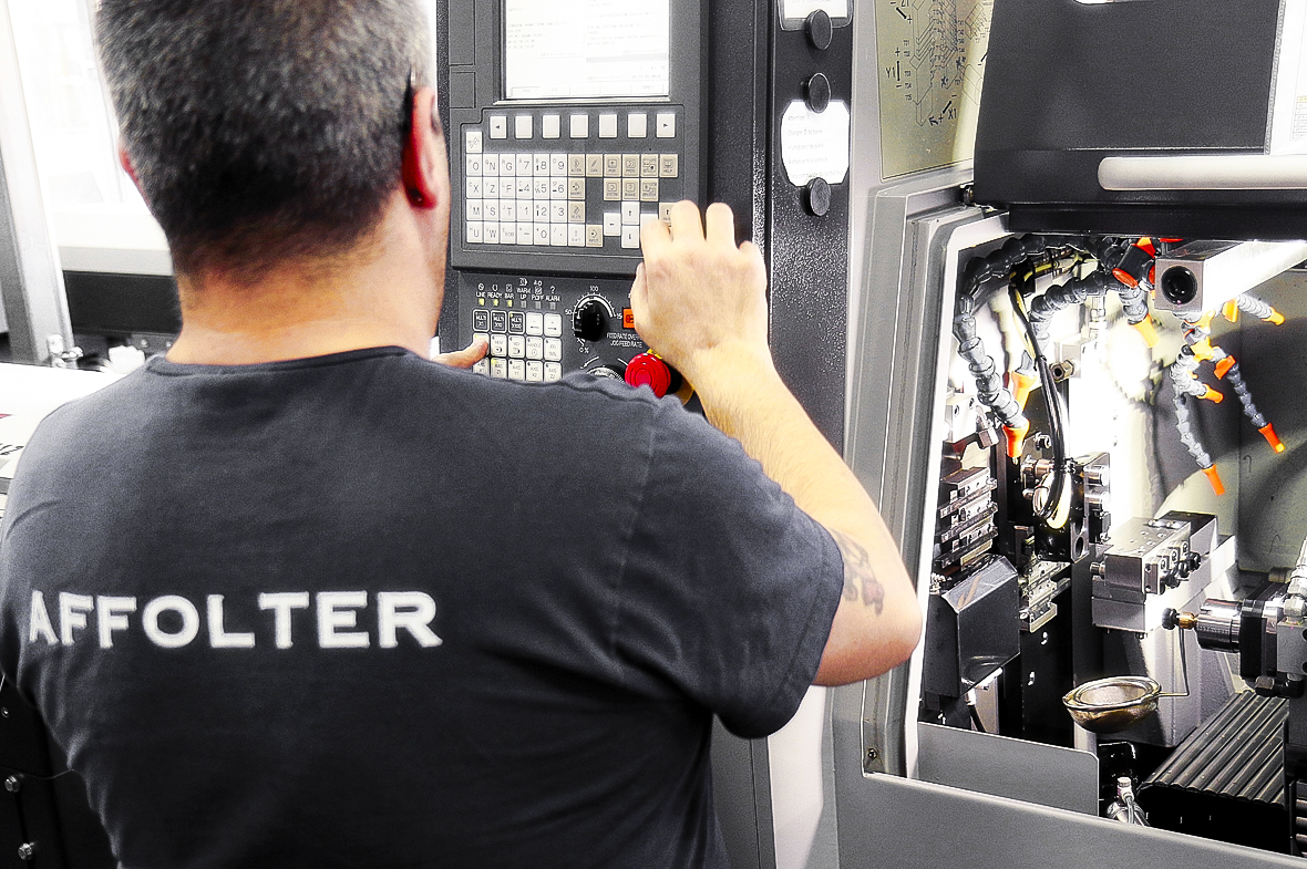 turning job swiss watch affolter geartrain