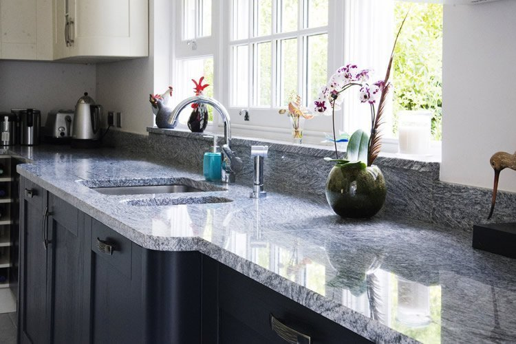 Silver Cloud Granite Worktops Installed West Clandon Surrey