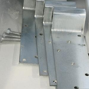Galvanized non-adjustable door stop