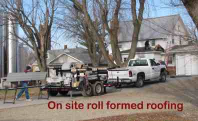On site rolled roofing Msg