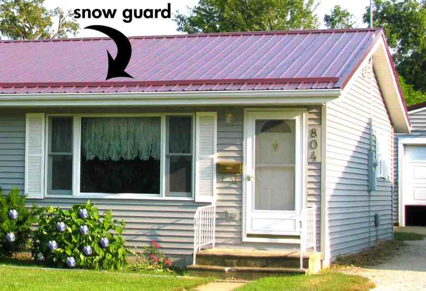 Snow Guard in Place