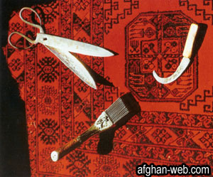 Carpet weaving hand tools